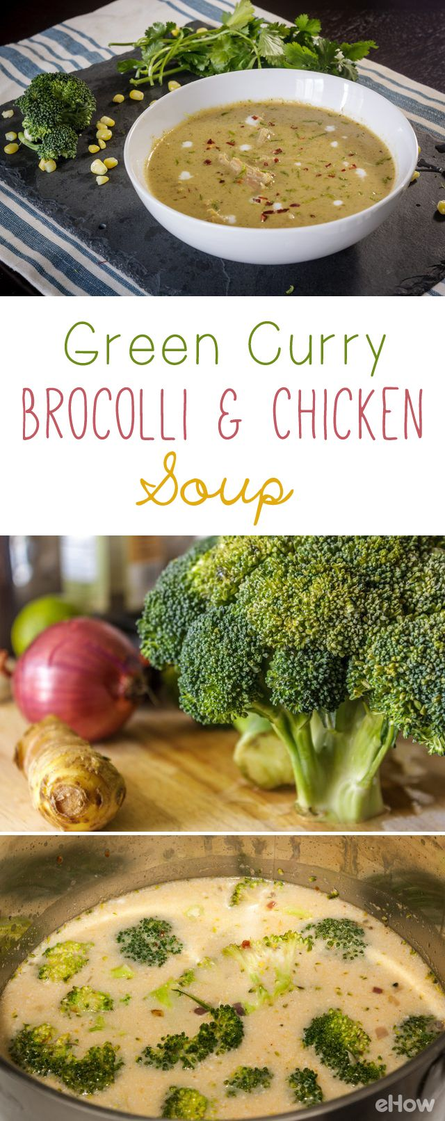 This is a simple one pot meal that's ideal for busy weeknights. Hearty yet light, Thai condiments add a punch to broccoli even the kids or picky eaters will love!  Your cooking time can be cut down by using a store-bought rotisserie chicken. Easy! Great as leftovers, it stays well refrigerated for 2 to 3 days. http://www.ehow.com/how_12343151_green-curryinspired-broccoli-chicken-soup-recipe.html?utm_source=pinterest.com&utm_medium=referral&utm_content=freestyle&utm_campaign=fanpage