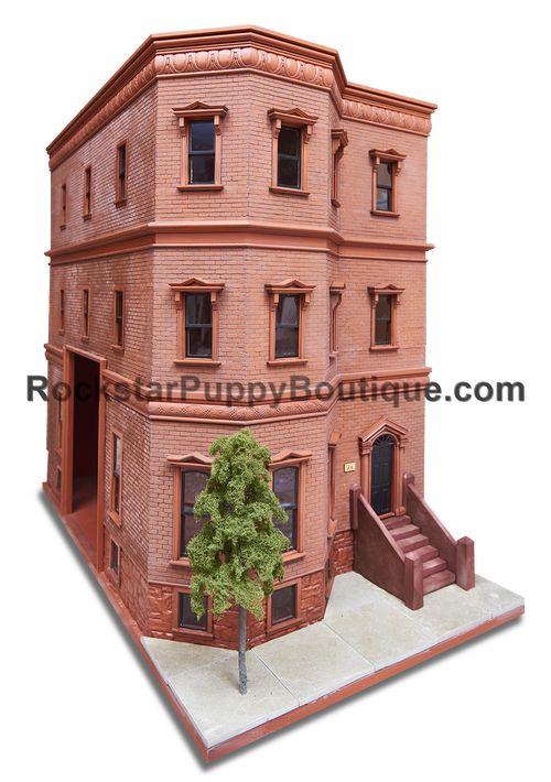 Brooklyn Brownstone Style Dog House