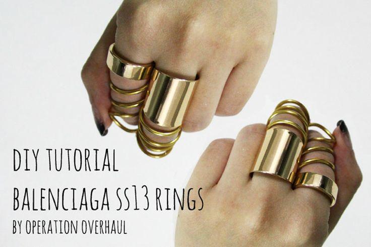 DIY Balenciaga rings