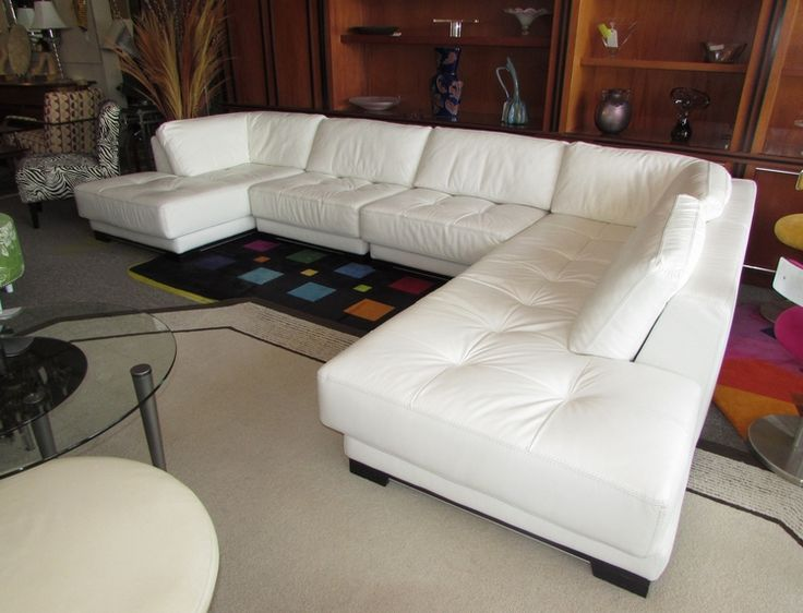 1000 ideas about white leather sofas on pinterest for Chaise roche bobois