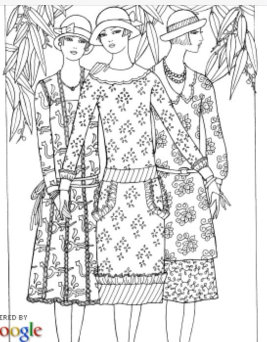 Modern Barbie Coloring Pages : Best coloring pages mode people images on pinterest