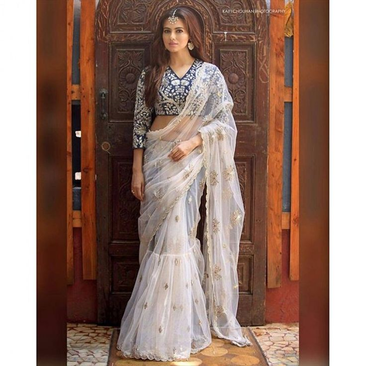 Fashionable White Color Heavy Embroiderey Work Semi Stitch Saree at just Rs.2055/- on www.vendorvilla.com. Cash on Delivery, Easy Returns, Lowest Price.