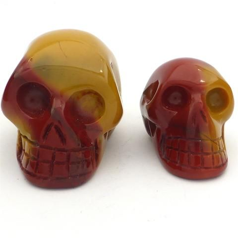 Skull Carvings, Mookaite