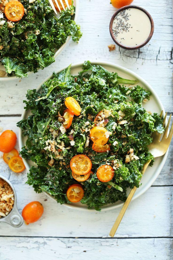 Kumquat Kale Salad | Minimalist Baker