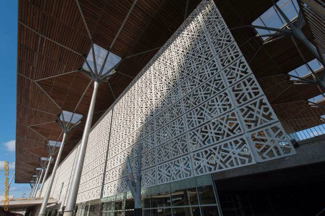 Casablanca Railway Station - Fiber Concrete Mucharabiah AREP - Groupe3 architects. MaP3 Structural engineer