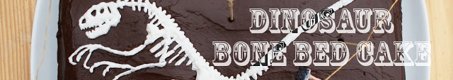 Dinosaur Fossil Bone Bed Cake Tutorial