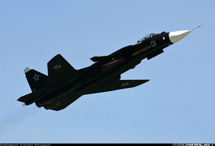 Su-47 Berkut - Almost unreal with its forward swept wing and way ahead of its time!