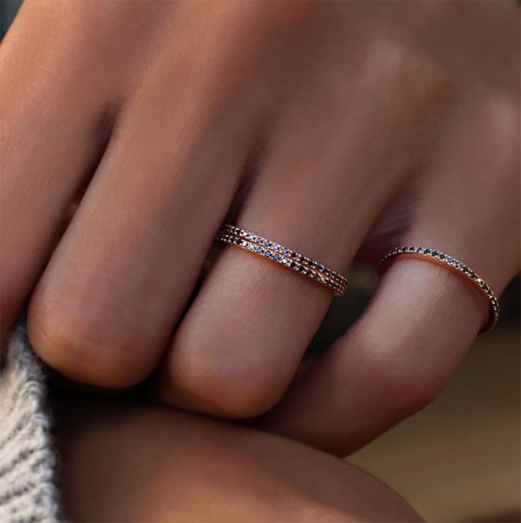 FESTIVAL BRIDES | 15 Engagement Ring Instagram Accounts that you need to know about, stunning black micropave diamond wedding bands by Luna Skye