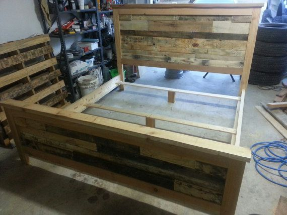 plete King Size Recycled Pallet Bed for Tammy