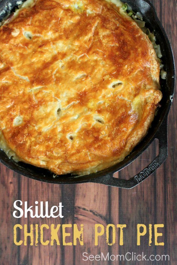 Skillet Chicken Pot Pie Recipe                                                                                                                                                                                 More