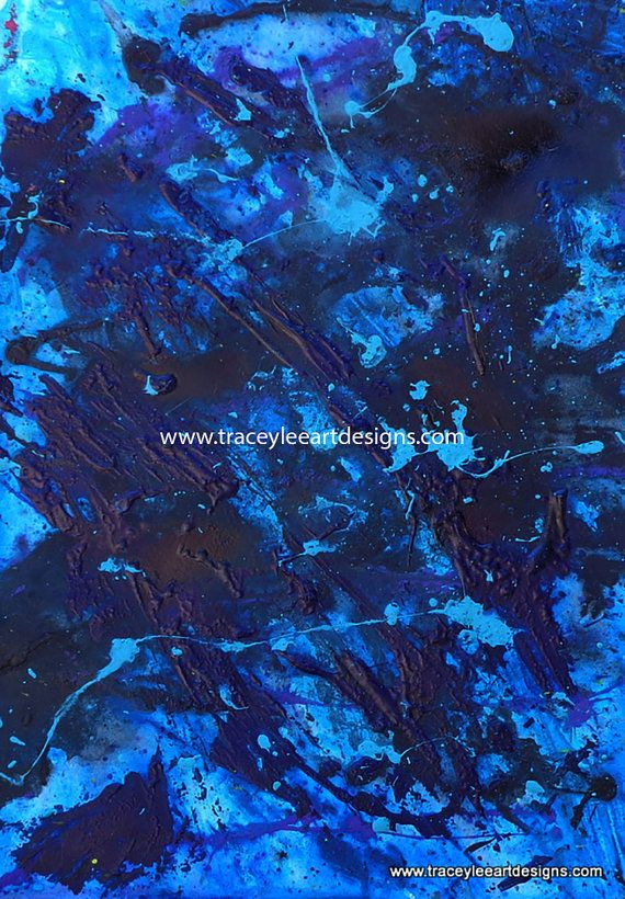 Original abstract painting Blue Monday by Traceyleeartdesigns #art #abstract #painting A3 size on watercolour paper.