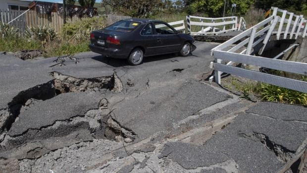 Bill ✔️ A bridge in Kaikoura, New Zealand, mangled in the quake...... A massive M7.8 earthquake on 14 November 2016. Bill Gibson-Patmore. (curation & caption: @BillGP). Bill✔️