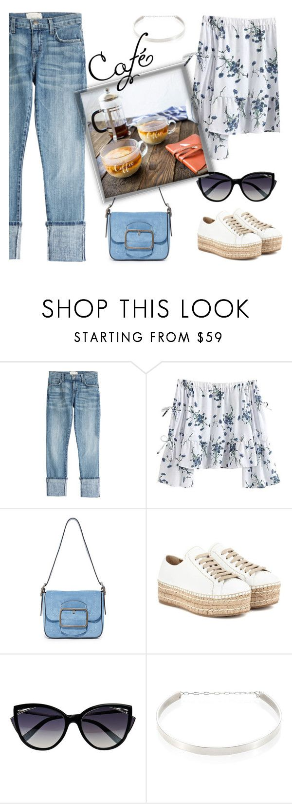 """Untitled #846"" by m-jelic ❤ liked on Polyvore featuring Current/Elliott, Tory Burch, Prada, La Perla, Jennifer Zeuner, Cathy's Concepts and WALL"