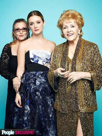A FAMILY AFFAIR -- Lifetime Achievement Award honoree Debbie Reynolds makes the SAGs a girls night with her daughter, Carrie Fisher, and granddaughter, Billie Lourd.