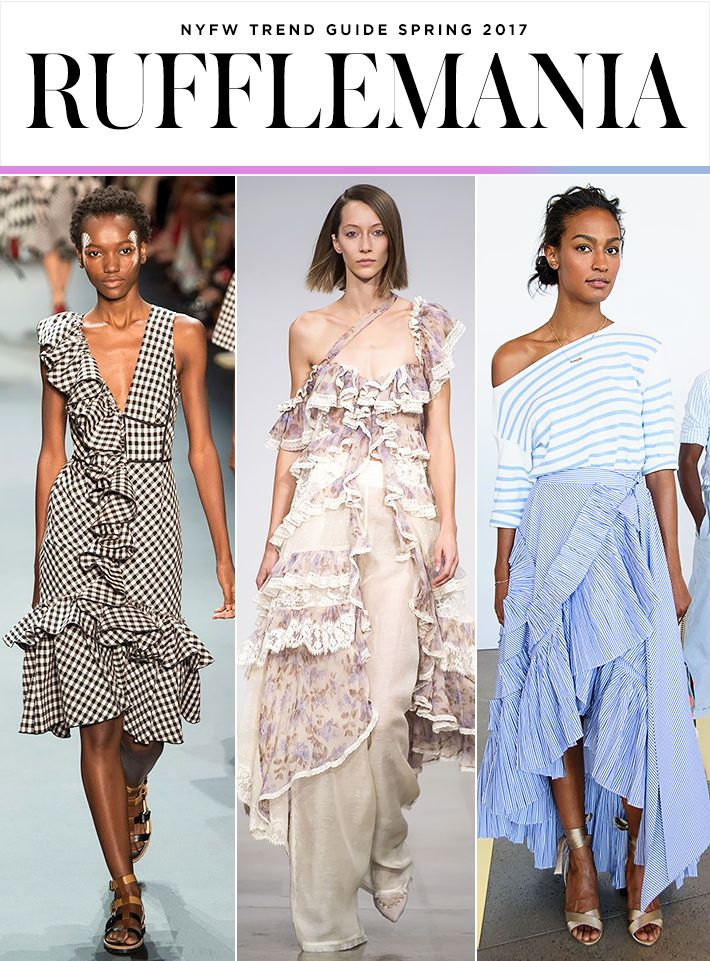 Top 10 Trends from NYFW Spring 2017   Ruffle tops and dresses   Tome; Zimmermann; J.Crew   Fashion Week SS17
