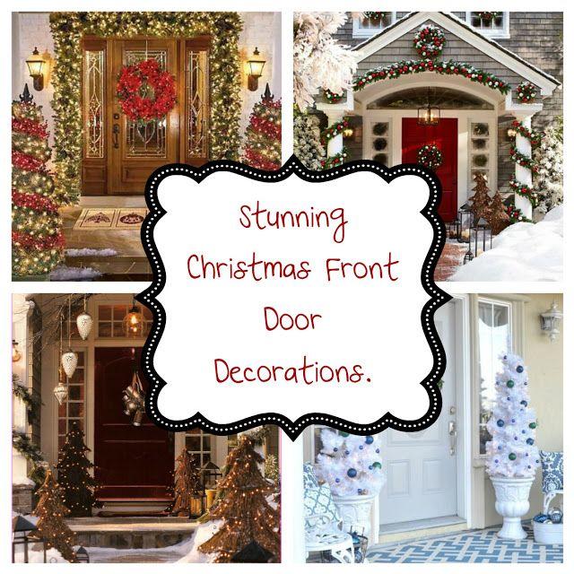 DIY Ideas - Home and Garden by Maria: Ιδέες Για Εντυπωσιακή Χριστουγεννιάτικη Διακόσμηση Εισόδου.
