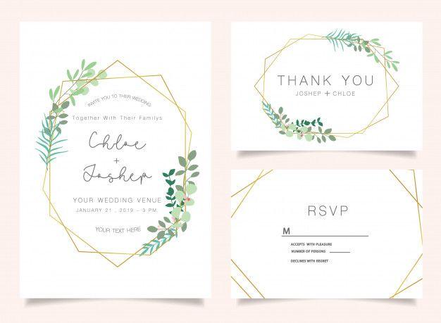 Wedding Invitations Set Download Thousands Of Free Vectors