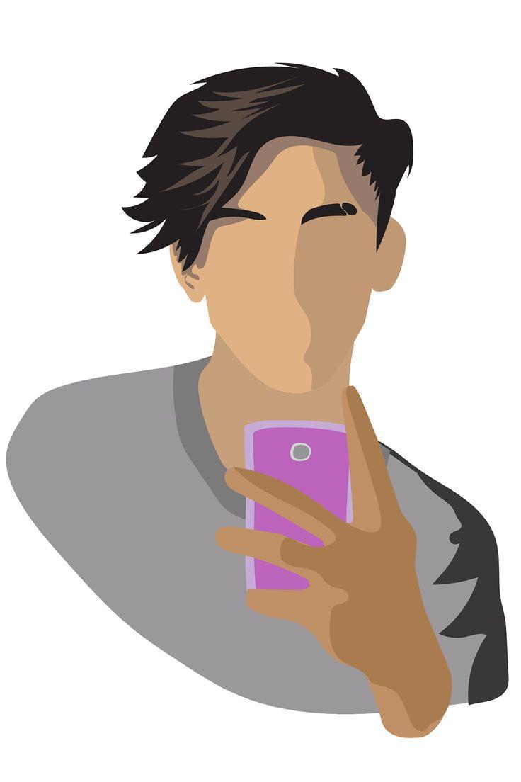~I use to take selfies on my celphone