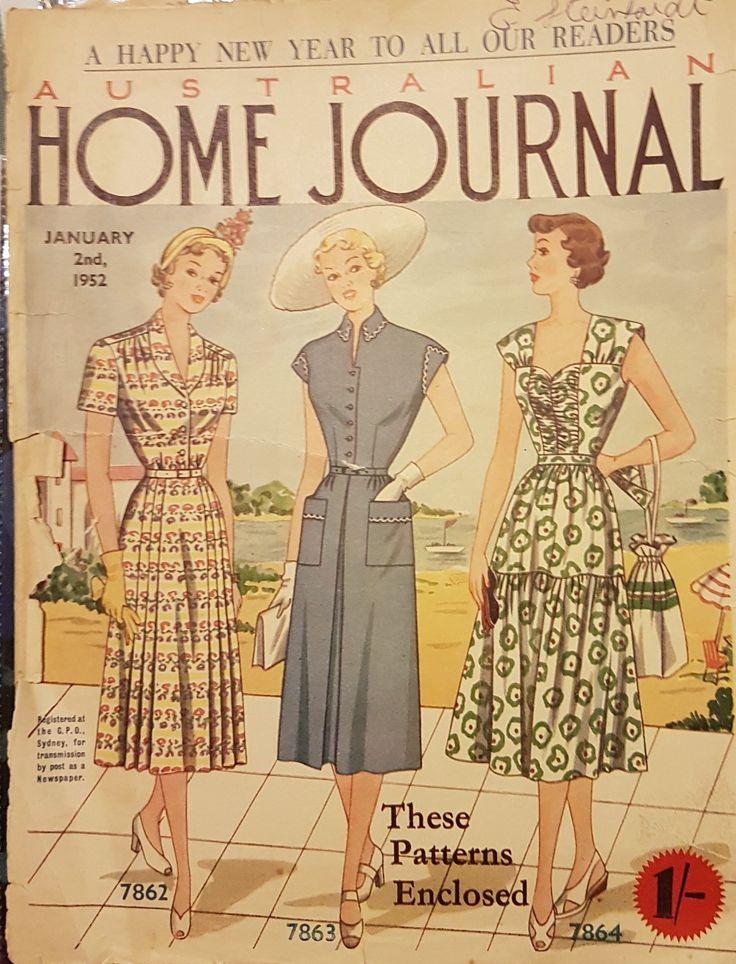 Australian home journal January 1952 cover