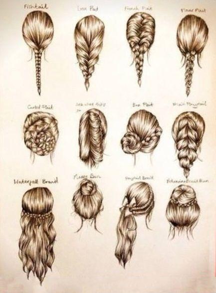 Distintos peinados.
