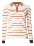 Womens **Vila Multi Coloured Stripe Polo T-Shirt- Multi