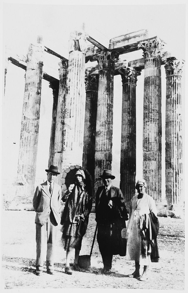 Leonard Woolf, Virginia Woolf, Roger Fry and Margery Fry in Athens May 1932