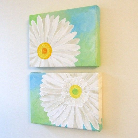love these daisy paintings