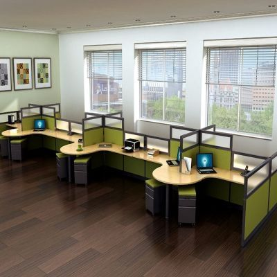 These are some really nice looking cubicles  The green color is something I  have43 best Open Office Furniture images on Pinterest   Office  . Really Nice Office Furniture. Home Design Ideas