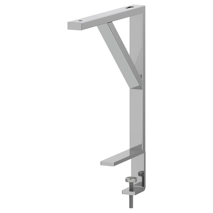 Ekby t re bracket for table top silver color ikea for Ikea desk with shelf