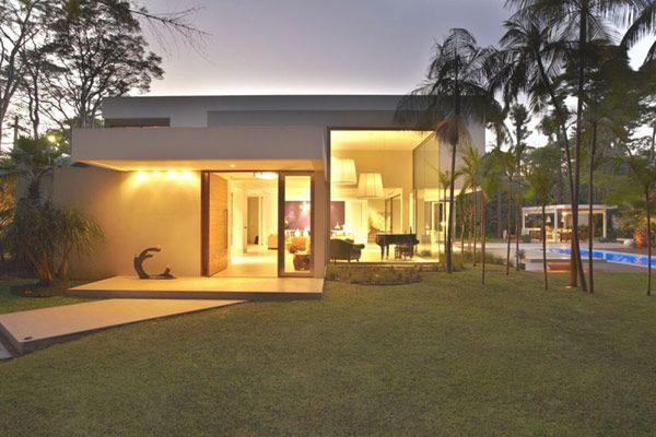 .: Interior Design, Modern Brazilian, Trav'Lin Lights, Patios Layout, Interiors Design, Morumbi Resident, Modern House, Drucker Arquitetura, Luxury Glow