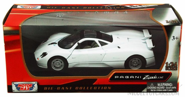 Pagani-Zonda-C12-White-Motormax-73272-1-24-scale-Diecast-Model-Toy-Car
