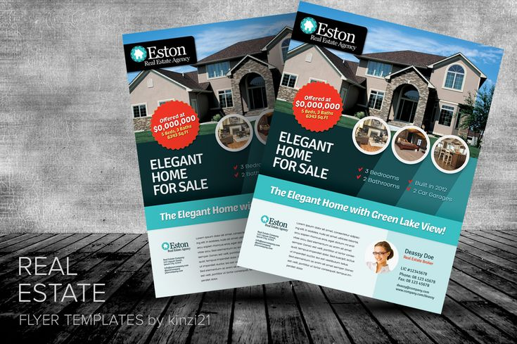 Real Estate Flyer Templates by kinzi21 on Creative Market ...
