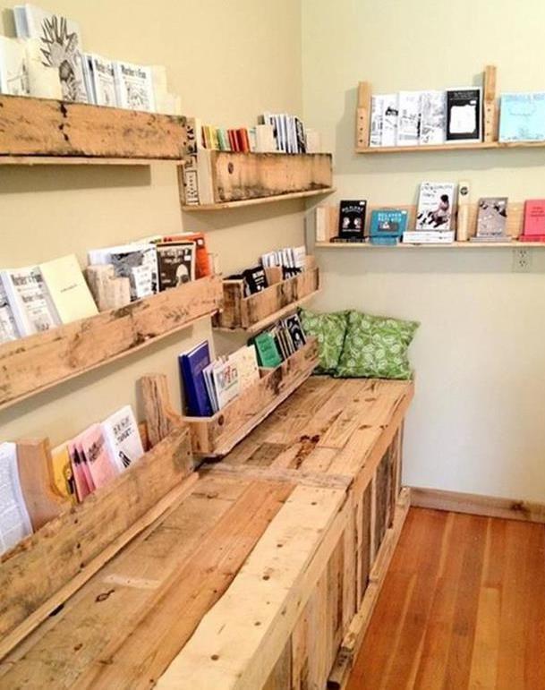 was kann man aus paletten bauen yarn shop wolladen pinterest diy b cherregale m bel. Black Bedroom Furniture Sets. Home Design Ideas