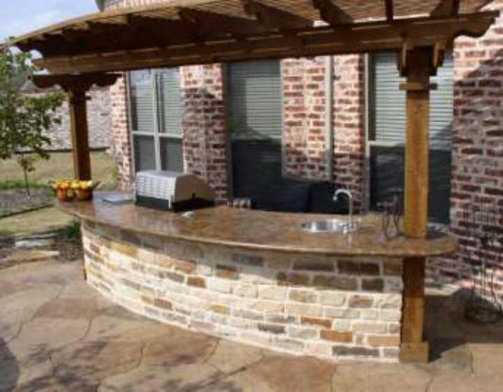 23 best Concrete BBQ's & Outdoor Bar Tops images on Pinterest ... Vener Brick Outdoor Kitchen And Bar Ideas on
