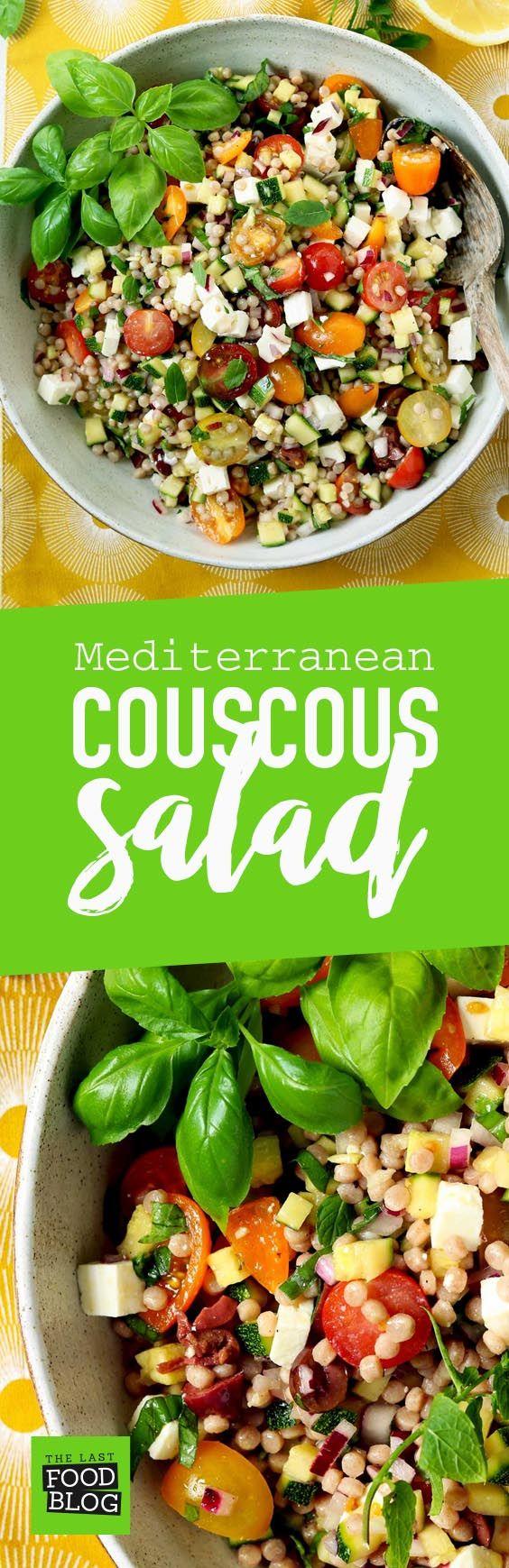 Mediterranean Couscous Salad - thelastfoodblog