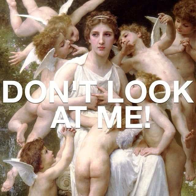 William Adolphe Bouguereau defs  captured what it's like to be Assualt(ed). This is totes how Damien felt when Ms. Norbury was staring at him while he performed. #meangirls #meangirlsarthistory #williamadolphebouguereau #damien #art #arthistory #girlbye