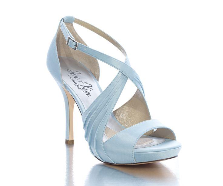 Simply Adorable! Bridal Blue Wedding Shoes Luna by Jen & Kim for Coloriffics – Blue Bridal Heels; wedding shoes, bridesmaid shoes, blue heels, bridal accessories $89.95