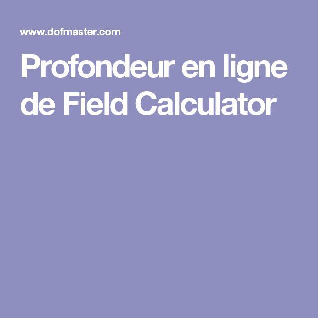 Profondeur en ligne de Field Calculator