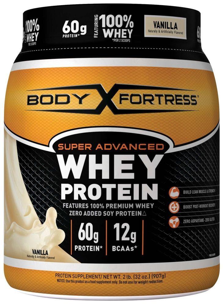 Body Fortress Super Advanced Whey Protein Powder Vanilla 2 Pounds
