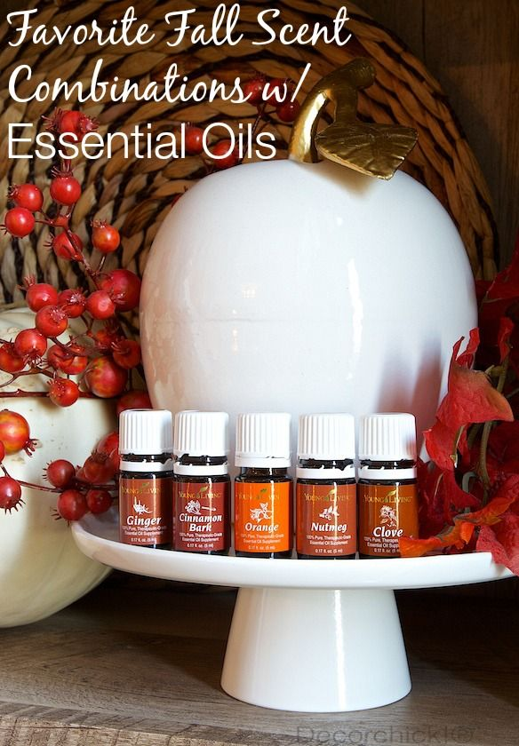 Fall Scent Combinations with Essential Oils   Decorchick!®