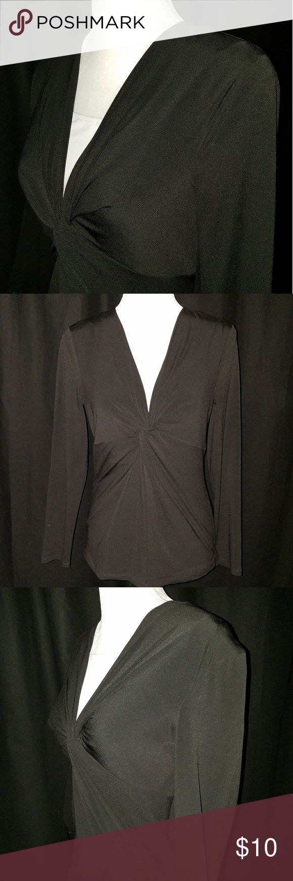 🆕 Josephine Chaus Black Top Black with white top by Josephine Chaus in Size Medium. Nice dressy top made of 94% Polyester and 6% Spandex. Josephine Chaus Tops Blouses