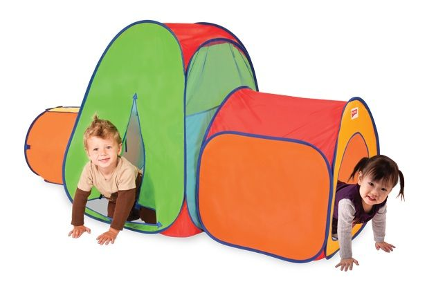 Creative play gifts for toddlers. Play tent, workbench, wood blocks, musical instruments.