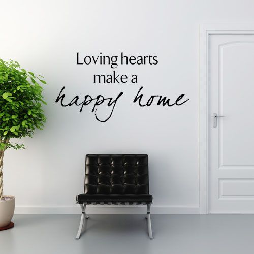 Family Wall Quote Idea...lovely wall quotes