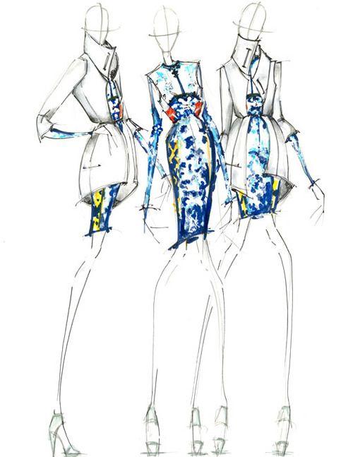 Throw Back Thursday. Illustration I did for a Mary Katrantzou Competition…
