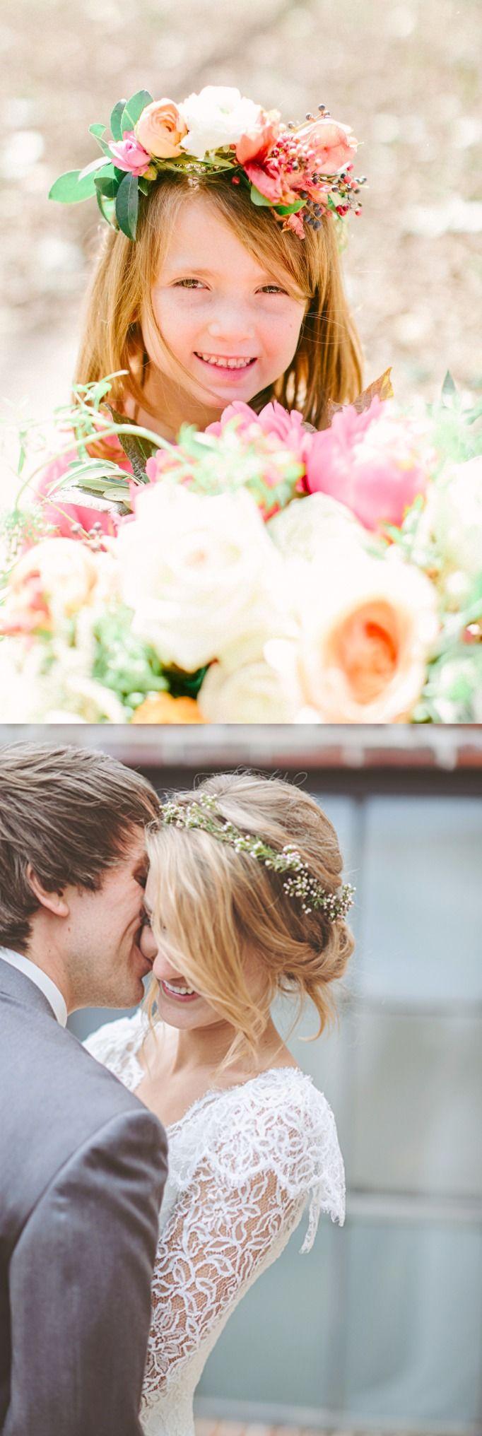 10 lindas coronas de flores para el cabello / http://www.intimateweddings.com/