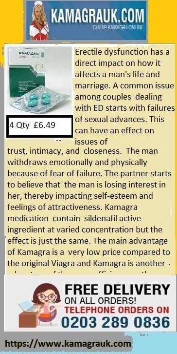 Kamagra contain sildenafil active ingredient at varied concentration but the effect is just the same. The main advantage of Kamagra is a   very low price compared to the original Viagra and Kamagra is another advantage of the same efficiency as the original  Viagra. Sildenafil is the main ingredient in Viagra. Sildenafil is a potent and selective inhibitor of cGMP Phosphodiesterase type 5 (PDE5) which is responsible for degradation of cGMP in the corpus cavernous.