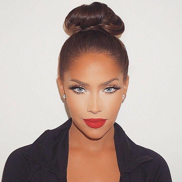Amazing glam by my Poonie @makeupbyariel ❤️❤️ & hair by my Hun-ni Bun-ni @makeupbysamuel ❤️❤️