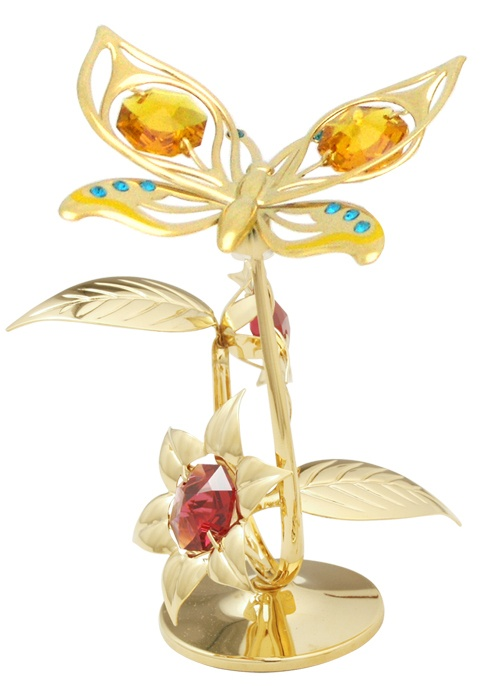 Orchid Butterfly on Flowers Stand