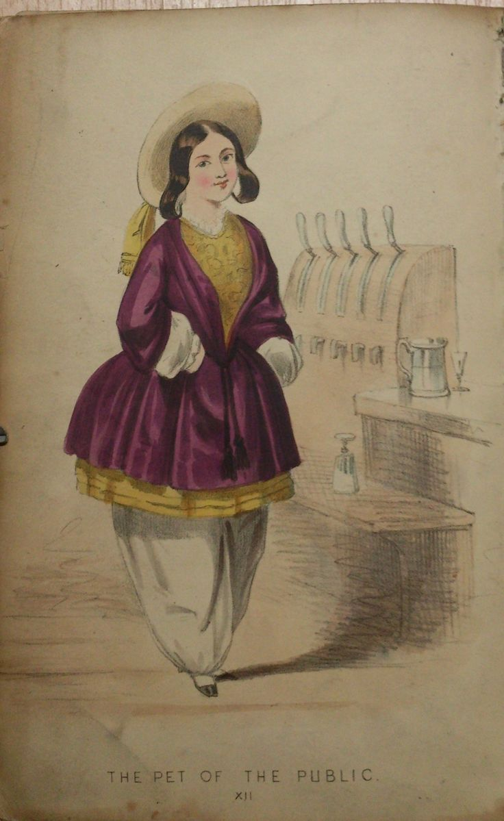 The Beauties of Bloomerism. (1852) Caricature about the new fashion that came with emancipation