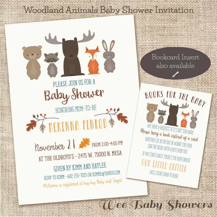 Woodland Baby Shower Invitation, Fox, Buck, Bear, Baby Shower by WeeBabyShower on Etsy https://www.etsy.com/listing/252803941/woodland-baby-shower-invitation-fox-buck
